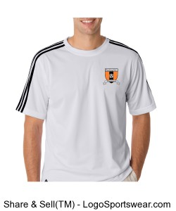 Pawling SC Adidas Mens Climalite 3-Stripes Tee Design Zoom
